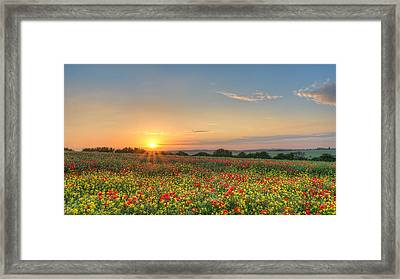 St Margarets Sunset Framed Print