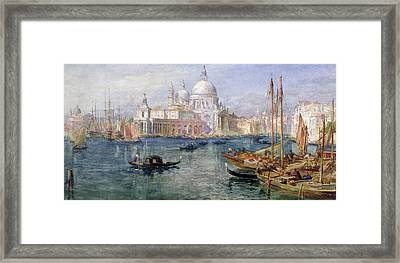 St Maria Della Salute Venice Framed Print by Edward Angelo Goodall
