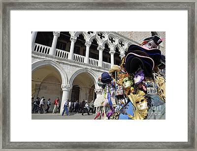 St Mark Square By Doges Palace Framed Print