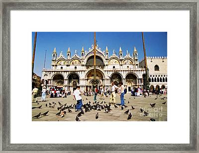 Framed Print featuring the photograph St. Mark's Basilica  by Allen Beatty