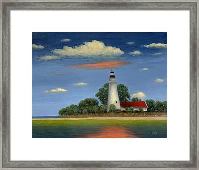 St. Mark's Light Florida Framed Print by Gordon Beck