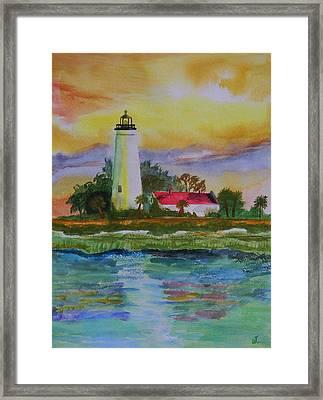St. Marks Lighthouse-2 Framed Print by Warren Thompson