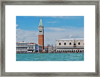 Framed Print featuring the photograph St. Mark's Square by William Wyckoff