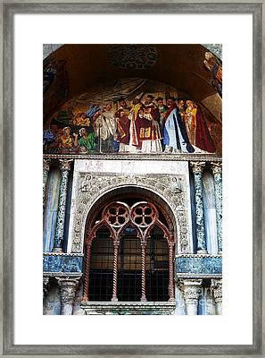 St. Marks Square Window Framed Print by John Rizzuto