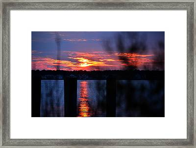 Framed Print featuring the photograph St. Marten River Sunset by Bill Swartwout