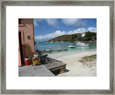 Framed Print featuring the photograph St. Martins  by Cathy Donohoue