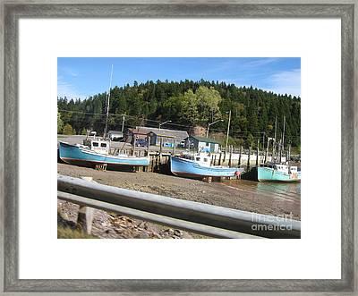 St-martin's Fishing Fleet Framed Print