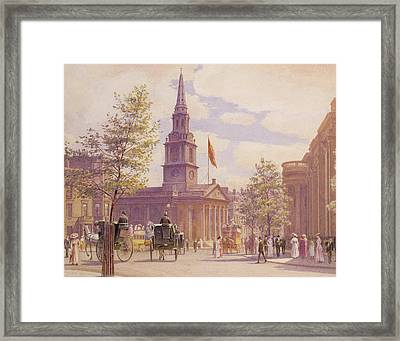 St. Martin's In The Fields London Framed Print by WH Simpson