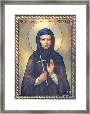 St. Martyr Eugenia Framed Print