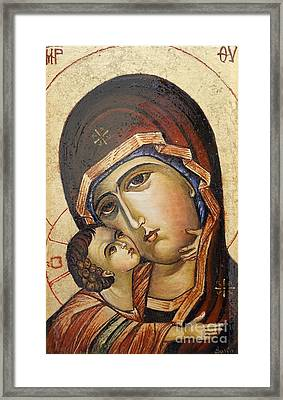 St. Mary And Jessus Framed Print