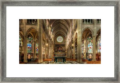 St. Mary Cathedral Basilica Of The Assumption Framed Print by Keith Allen