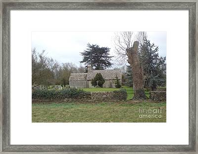 St Mary Church Ampney Framed Print by John Williams
