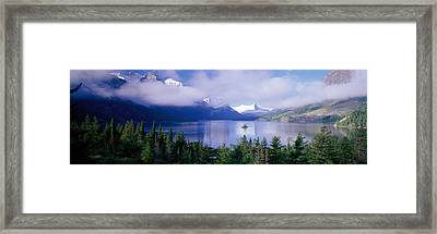 St Mary Lake, Glacier National Park Framed Print by Panoramic Images