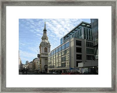 Framed Print featuring the photograph St Mary Le Bow Church by Helene U Taylor