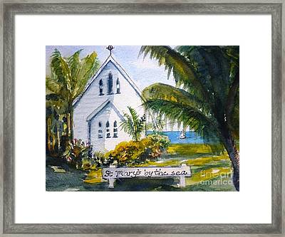 St Marys By The Sea - Original Sold Framed Print by Therese Alcorn