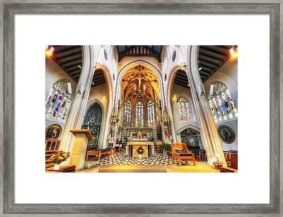 St Mary's Catholic Church - The Altar Framed Print by Yhun Suarez