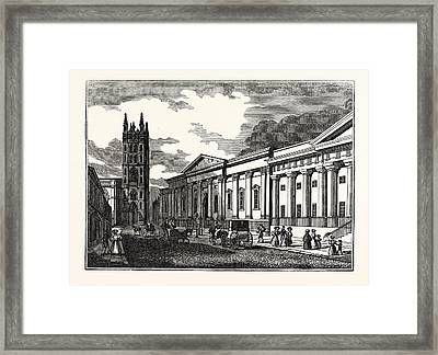 St. Marys Church, And The Townhall Framed Print