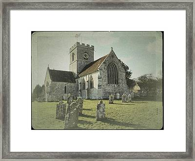 St Marys Church Dinton And Churchyard Framed Print