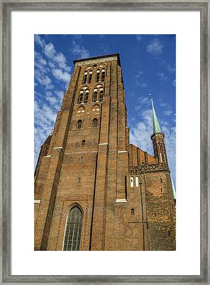 St. Mary's Church In Gdansk Framed Print by Adam Budziarek