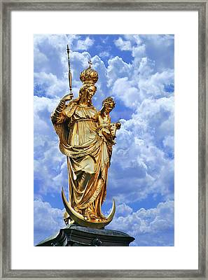 St Mary's Column Marienplatz Munich Framed Print by Christine Till