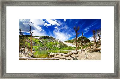 St. Mary's Glacier Framed Print by Mark Andrew Thomas