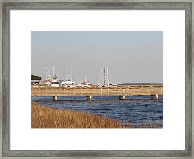 St. Mary's Harbor Framed Print by Cathy Lindsey