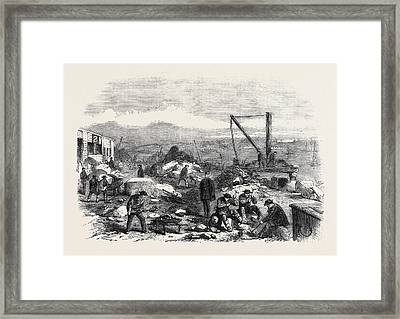 St. Marys Island The Convicts At Labour Chatham Prison 1861 Framed Print