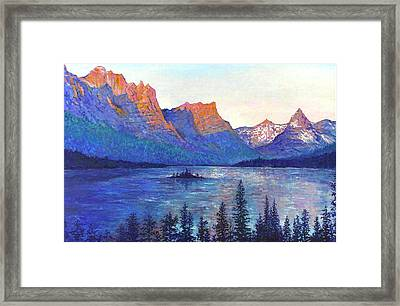 St. Mary's Lake Montana Framed Print