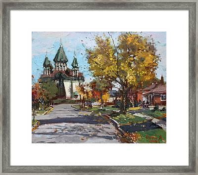 St. Marys Ukrainian Catholic Church Framed Print by Ylli Haruni