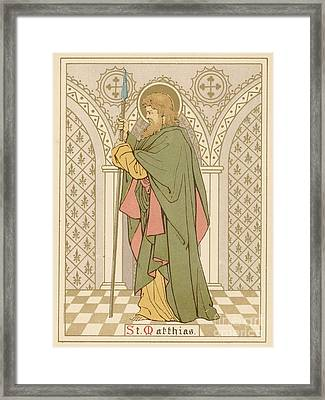 St Matthias Framed Print by English School