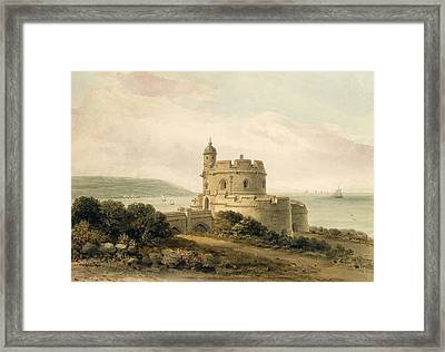 St Mawes Castle Framed Print by John Chessell Buckler