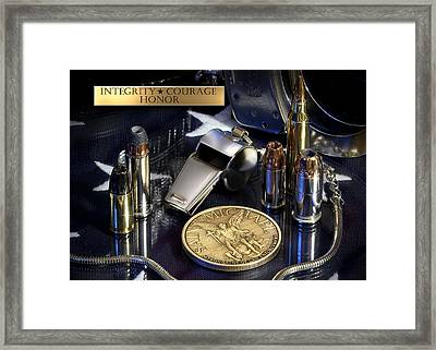 St Michael Law Enforcement Framed Print by Gary Yost