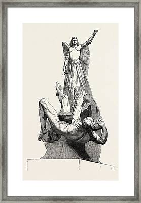 St. Michael Overthrowing The Dragon Framed Print by Le Seigneur, French School