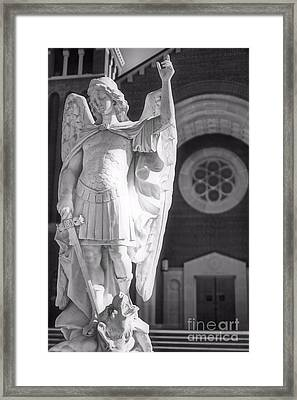 St. Michael The Archangel Framed Print by Brian Druggan
