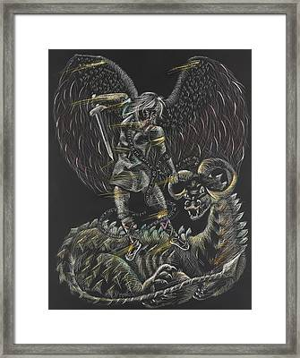 St. Michael The Archangel Framed Print by Michelle Miller