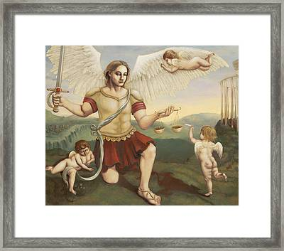 St. Michael The Archangel Framed Print