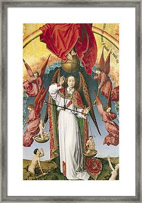 St. Michael Weighing The Souls, From The Last Judgement, C.1445-50 Oil On Panel Detail Of 170072 Framed Print