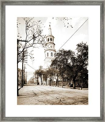 St. Michaels Church, Charleston Framed Print by Litz Collection
