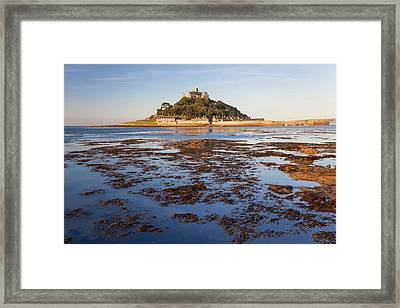 St Michael's Mount At Dawn, Marazion Framed Print by Peter Adams