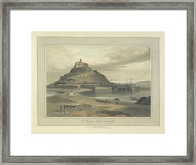 St Michaels Mount Framed Print by British Library