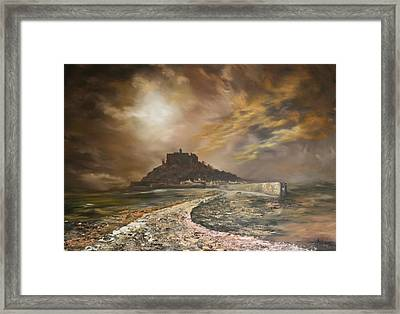 Framed Print featuring the painting St Michaels Mount Cornwall by Jean Walker