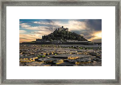 St Michael's Mount Cornwall Uk Framed Print by Martin Newman