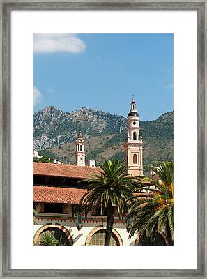St Michel Church Bell Tower And Old Framed Print by Sergio Pitamitz