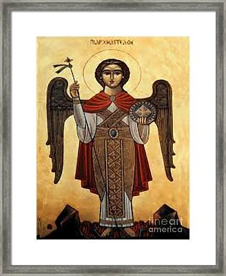 St. Mikail Framed Print by Archangelus Gallery