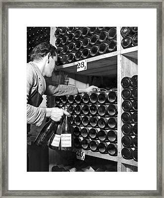 St. Moritz Bottles Of Wine Framed Print