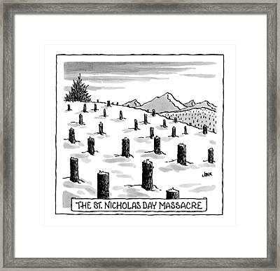 'st. Nicholas Day Massacre' Framed Print by John Jonik
