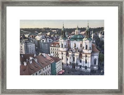 St Nicholas Prague Framed Print by Joan Carroll