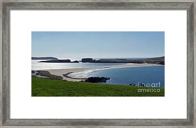 St Ninian's Isle Shetland Framed Print by Lynn Bolt