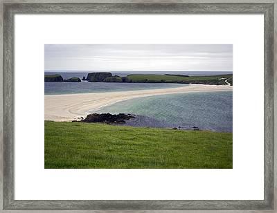 St Ninian's Tombolo Framed Print by Steve Watson