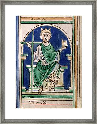 St Oswald Framed Print by British Library